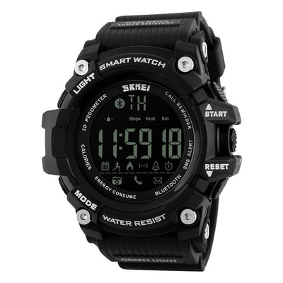 SKMEI Outdoor Sport Smart Watch Men Bluetooth Multifunction Fitness Watches 5Bar Waterproof Digital Watch reloj hombre 1227/1384