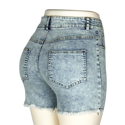 Fashion Women High Waisted Denim Shorts Jeans Summer Women Push Up Short 2019 New FemmeSkinny Slim Denim Shorts