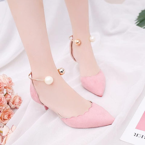 women pump sandals heel
