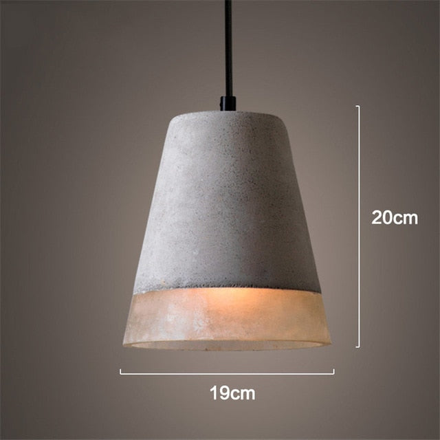 Vintage Art Cement E27 Pendant Light Bedroom Living Room Hotel Lighting Pendant Lamp Home Decoration Lighting Fixtures Luminaria