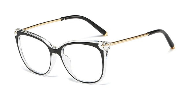 TR90 Anti-blue Retro Cat Eye Glasses Frames Men Women Optical Fashion Computer Glasses 45818