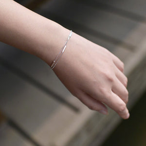 XIYANIKE 925 Sterling Silver Double Layer Simple Wild Adjustable Jewelry Handmade Bracelet Customize Gift for Women