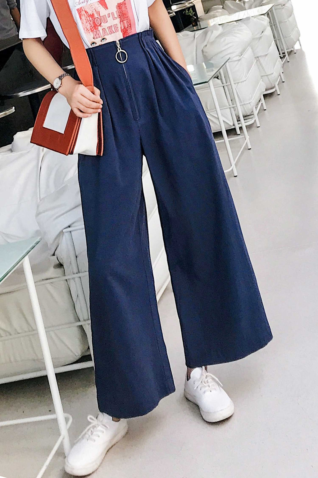 Loose High Waist Wide Leg pant - 7GEGE