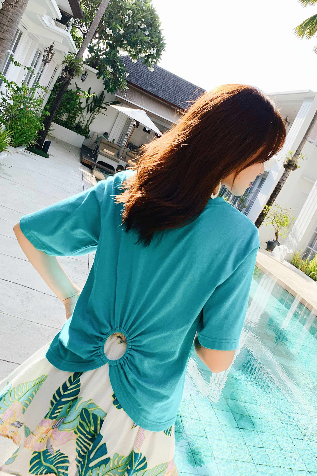 Short Sleeve Solid Color Top T-shirt - 7GEGE