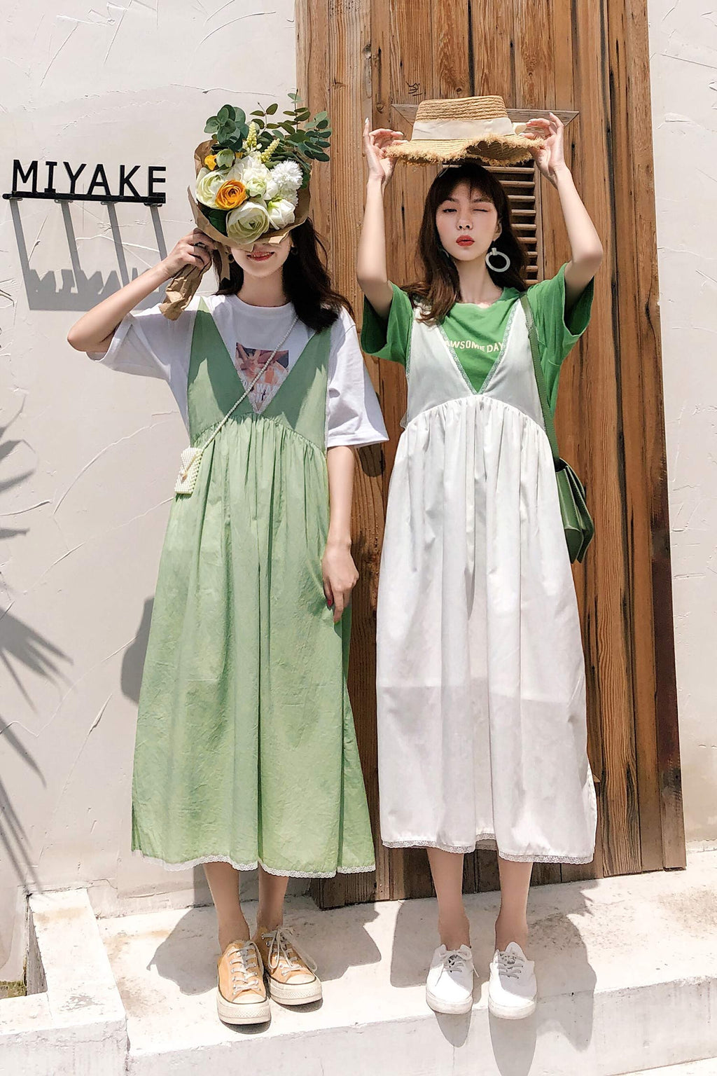 Avocado Fruit Green Sister Dress - 7GEGE