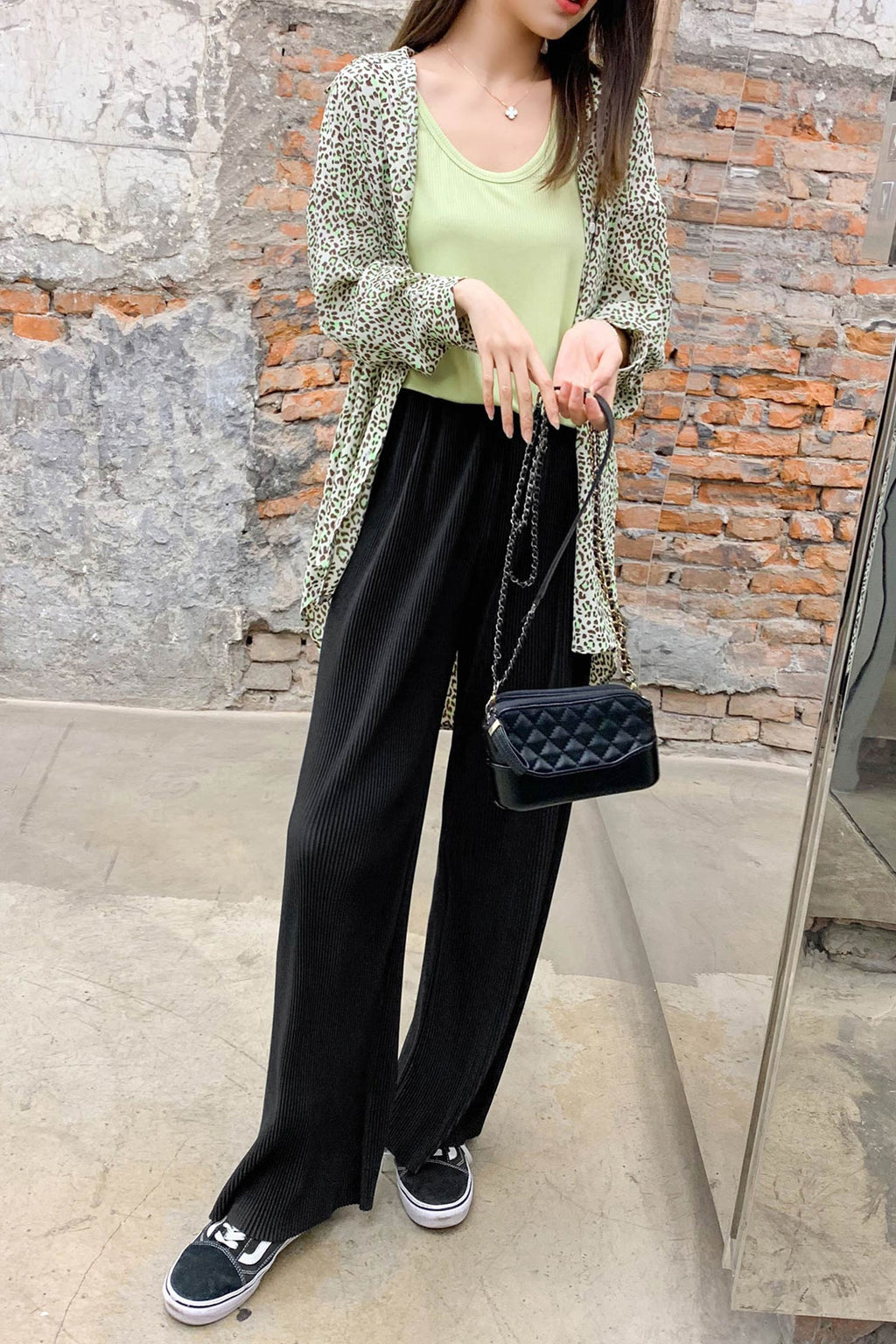 Loose Wide leg pant Black - 7GEGE