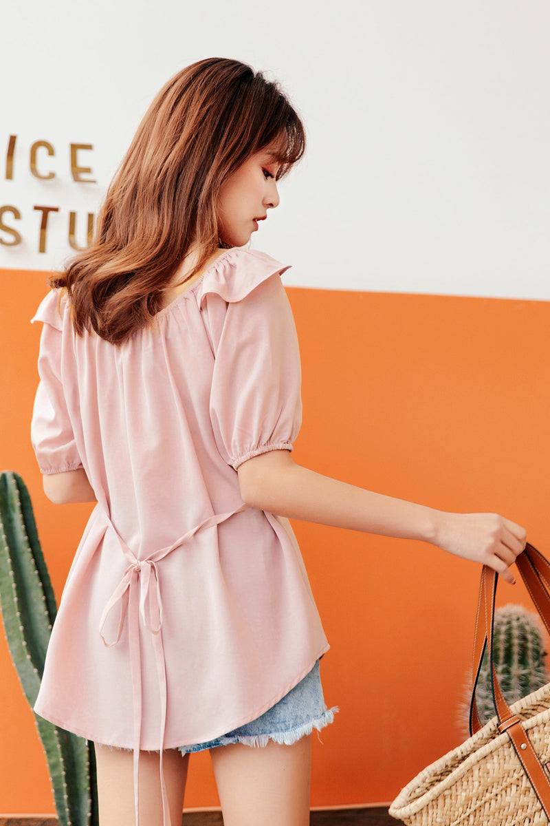 Mid-length V-neck Chiffon Shirt