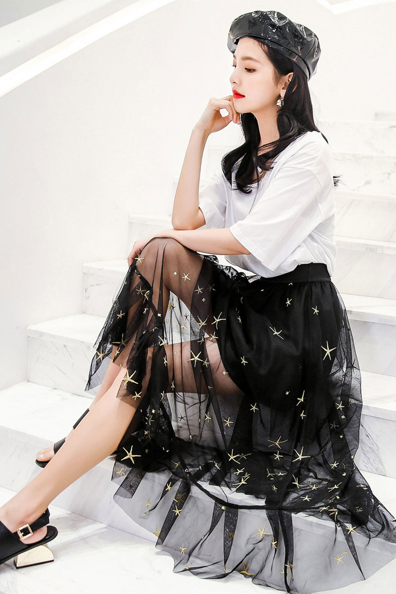 Ruffle Pleated Skirt Kiki Riki Tulle - 7GEGE