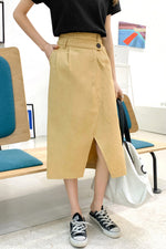 A-line High Waist Skirt - 7GEGE