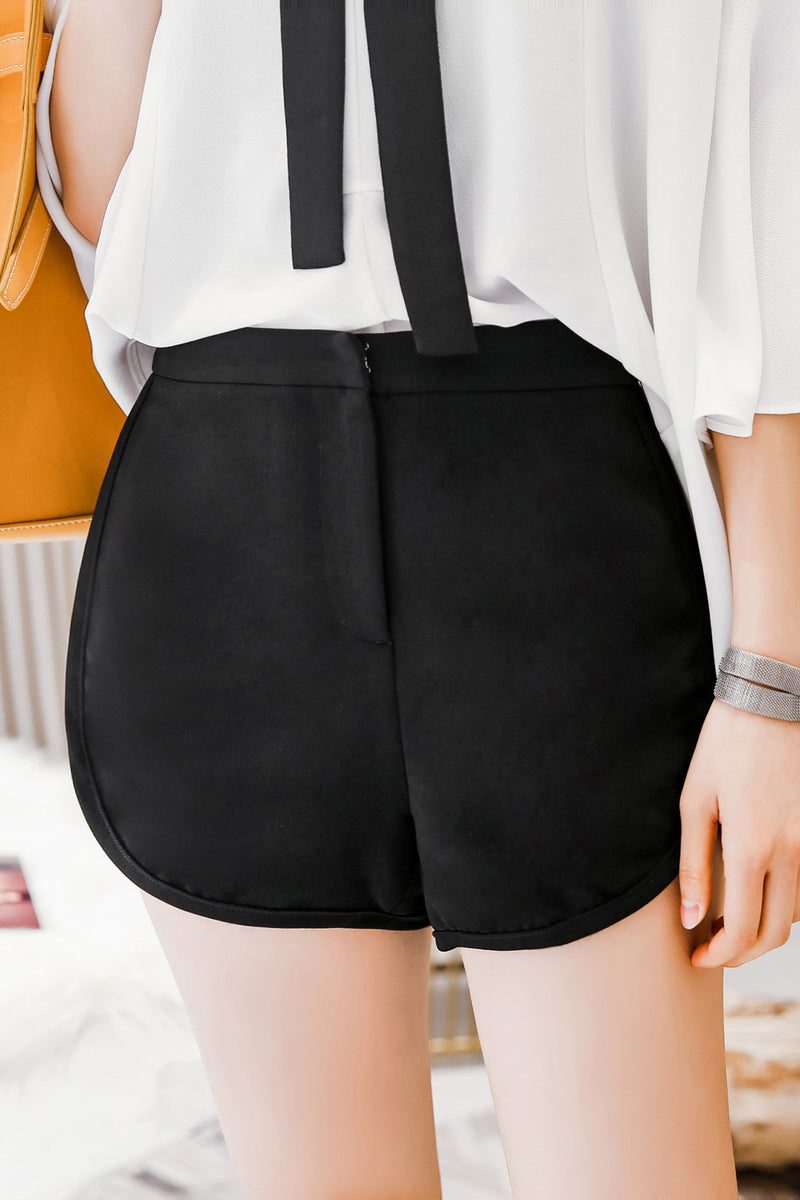 High Waist Wide Leg Short