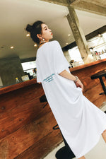 Lazy  Letter Graphic Cotton Dress - 7GEGE