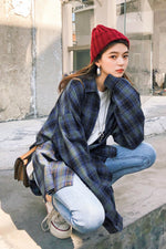 Design Type Plaid Blouse - 7GEGE