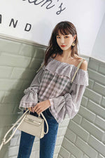 Ruffled Foreign Style Shoulder Strap Top Summer - 7GEGE