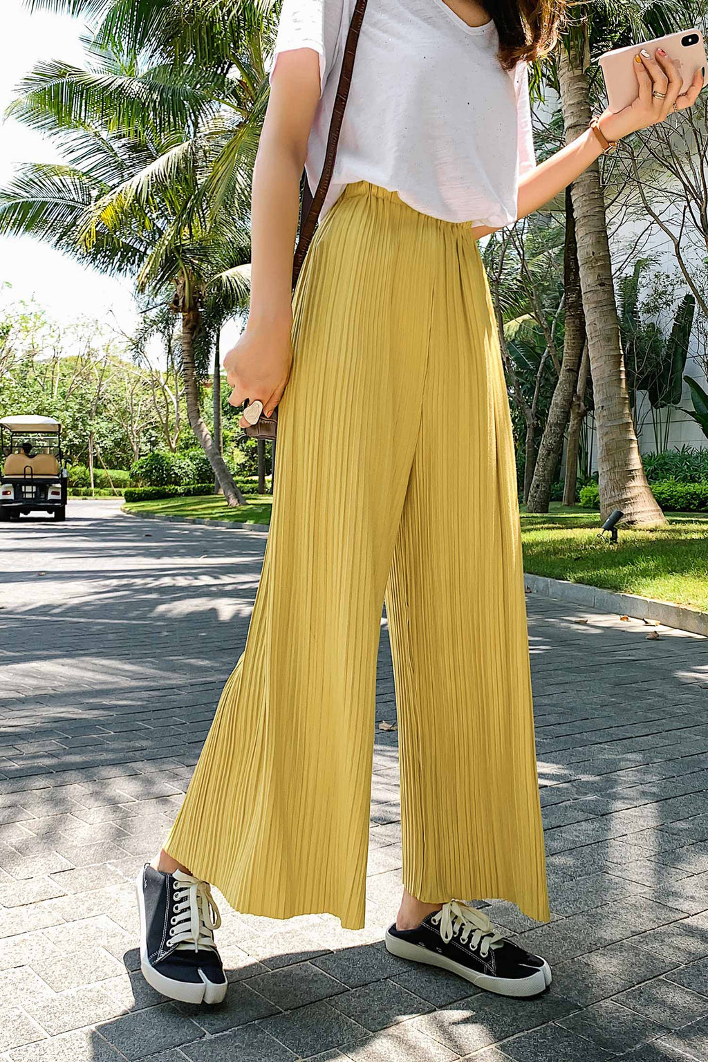 Summer Straight Skinny Pleated Loose Casual Pant - 7GEGE