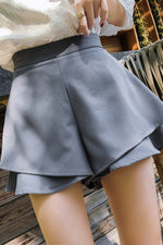 Fashion Wide Leg Short Pant Blue - 7GEGE