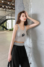 Style Graphic Strap Camisole - 7GEGE