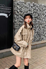Khaki Style Many Pockets  Coat - 7GEGE