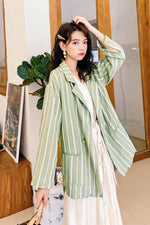 Striped Suit Top Of Loose - 7GEGE