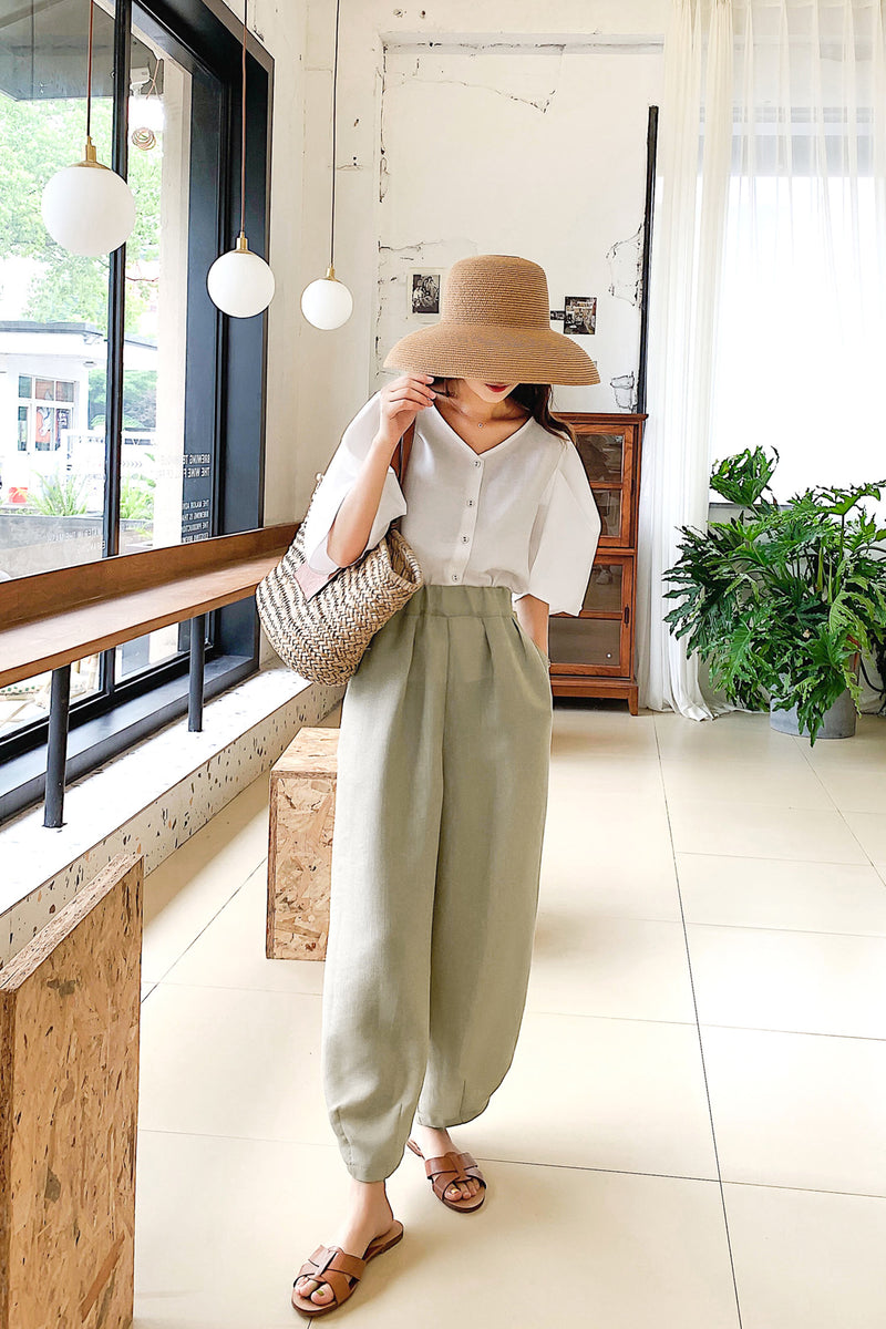 Summer Thin Loose Straight Wide leg pant - 7GEGE