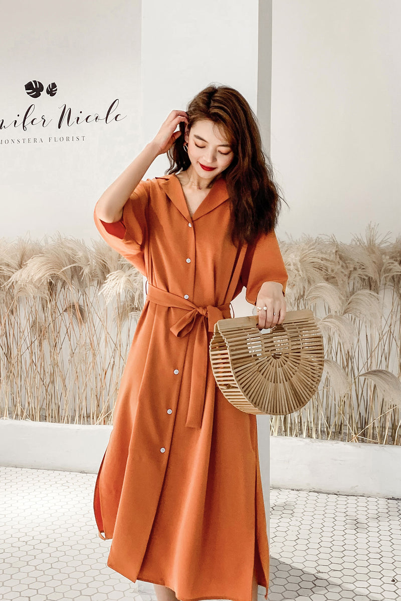 V-Neck Detail Belted Slip Romper Dress - 7GEGE