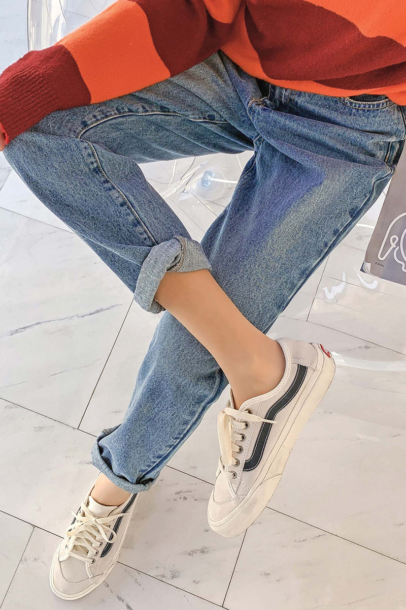 High Waist Jeans Straight Loose Wild Wild Thin Pant