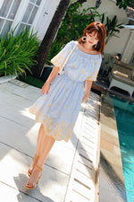 Ruffle Slim Chiffon Suspender dress