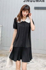 Black Fashion Stitching Dress