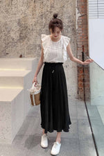 Pleated Loose Wide Leg Pant - 7GEGE