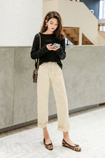 Loose High-Waist Overalls Wide-Leg Pant - 7GEGE
