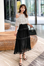Off The Shoulder short sleeved Lace shirt - 7GEGE