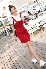 Retro Non Sleeve Strap Dress - 7GEGE