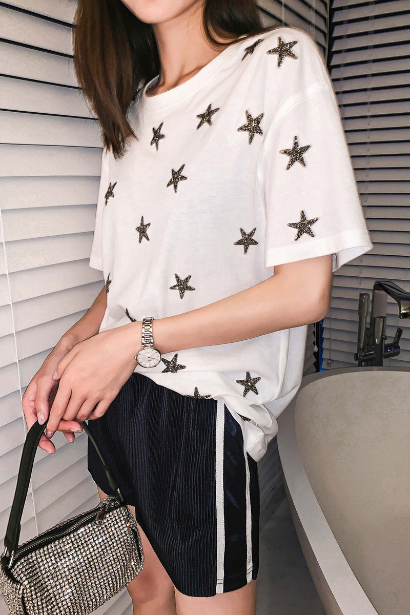 Star Mid-length T-shirt