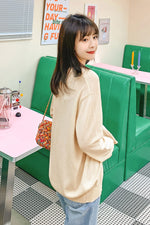Knit V-Nick Cardigan Sweater - 7GEGE