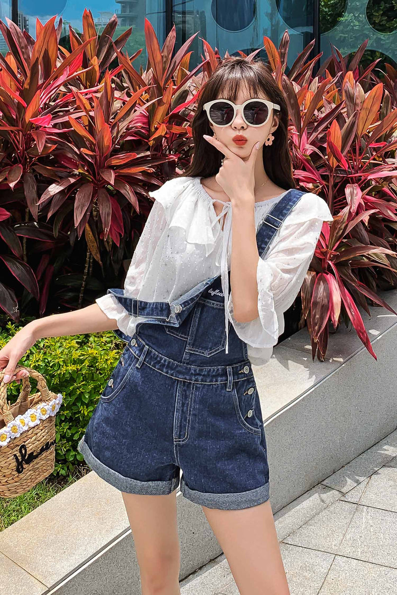 Very Fairy Top Foreign Short-Sleeved Loose Shoulder Chiffon Shirt