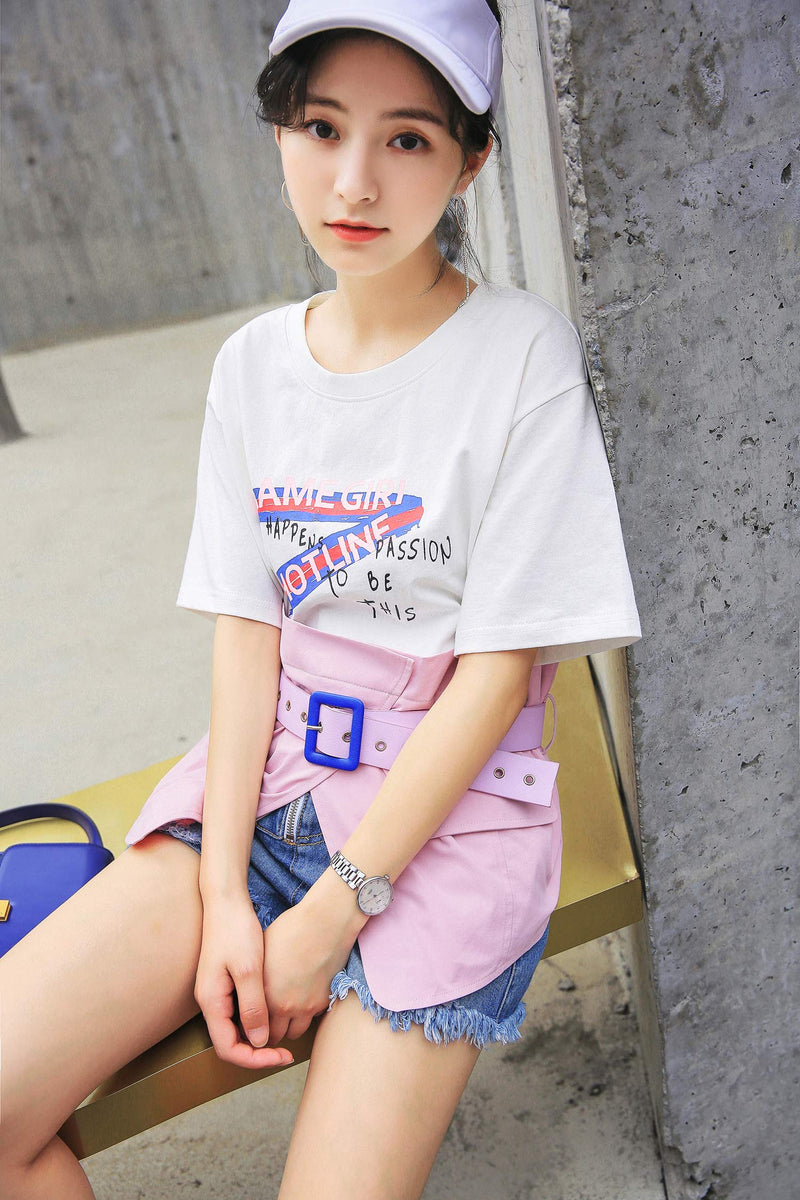 Alphabet Short Sleeve T-shirt