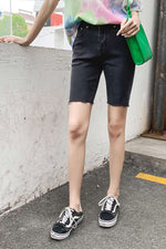 High waist Jean Short Pant - 7GEGE