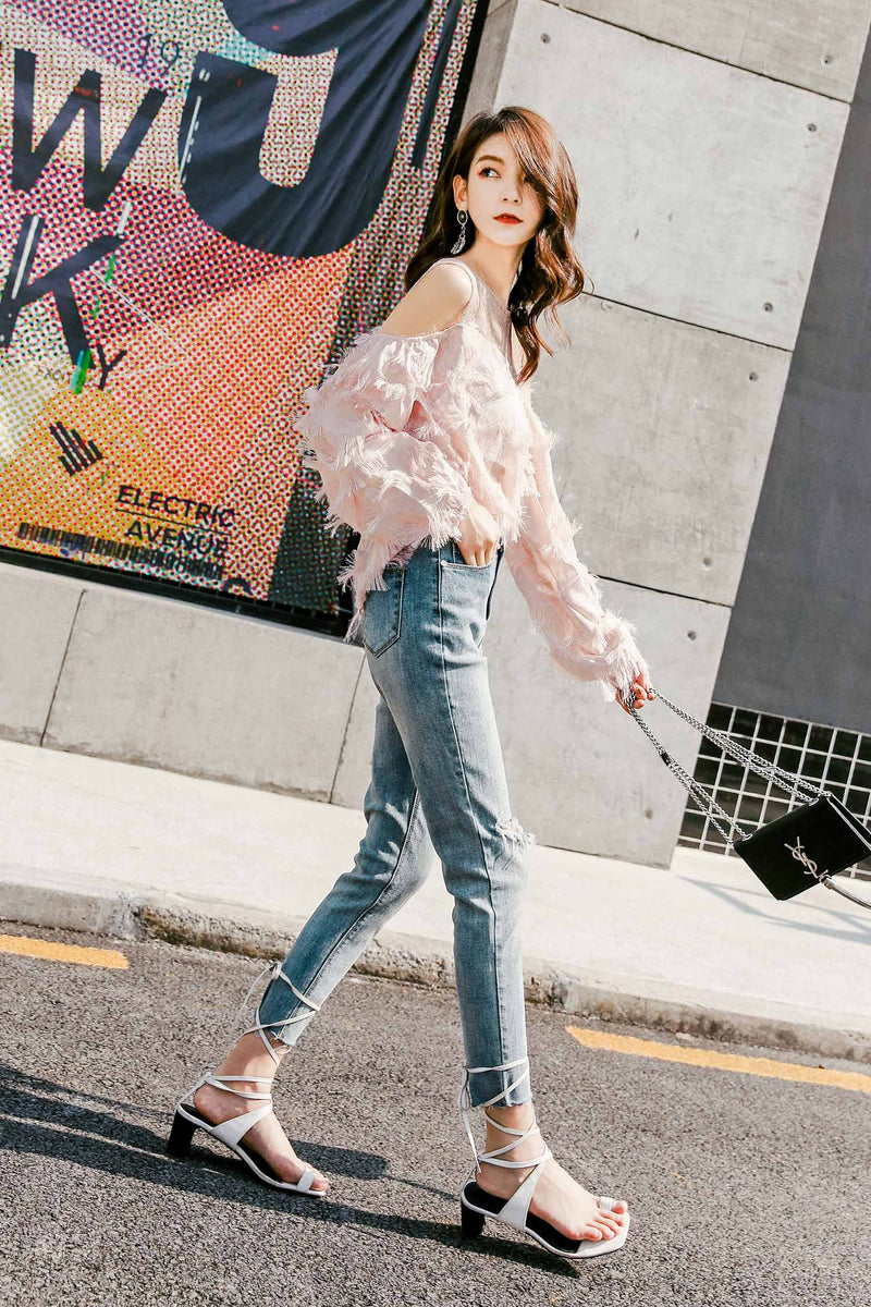 Spring and Summer Lace Chiffon Shirt - 7GEGE