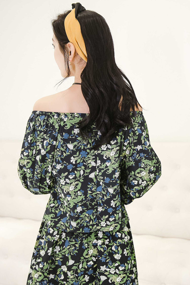 Loose-fit Floral Print Top shirt - 7GEGE