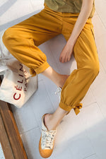 High Waist Tooling Casual Pant