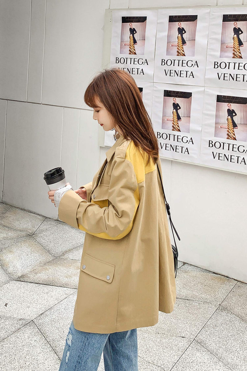 Cut-and-sew Pocket Style Coat - 7GEGE