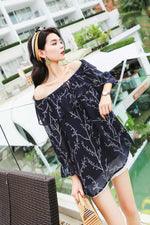 Off Shoulder Chiffon Shirt - 7GEGE
