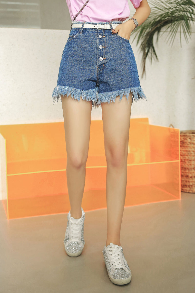High Waist Fashion Short Jeans