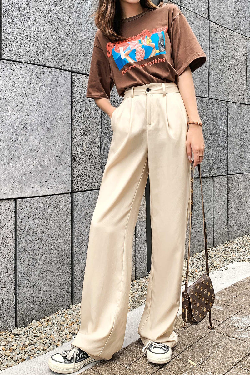 4 Colors Straight Wide Leg Pant - 7GEGE