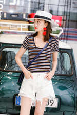 3 Colors stripe T-shirt 👕👕👕