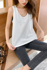 Basic Tank Solid Camisole Top - 7GEGE