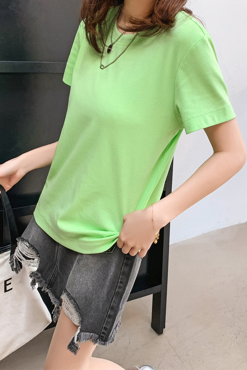 5 Colors Basic Solid T-shirt - 7GEGE