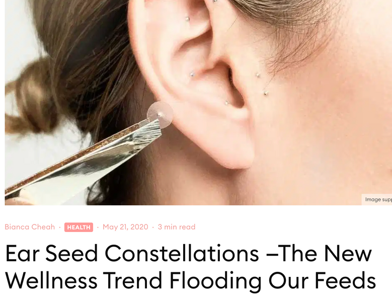 Press: Ear Seed Constellations —The New Wellness Trend Flooding Our Feeds