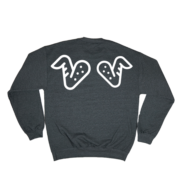 Left Wing. Right Wing Crewneck (Charcoal)