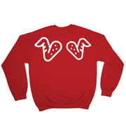 Left Wing. Right Wing Crewneck (Red)