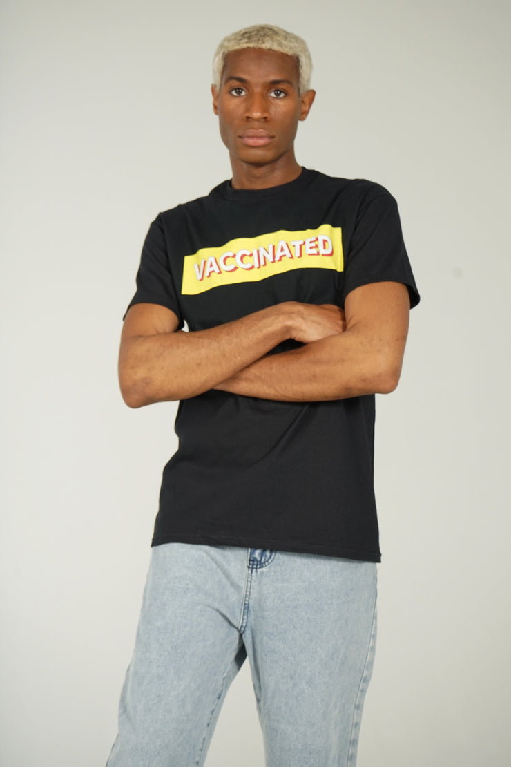 Vaccinated T-Shirt (Black)